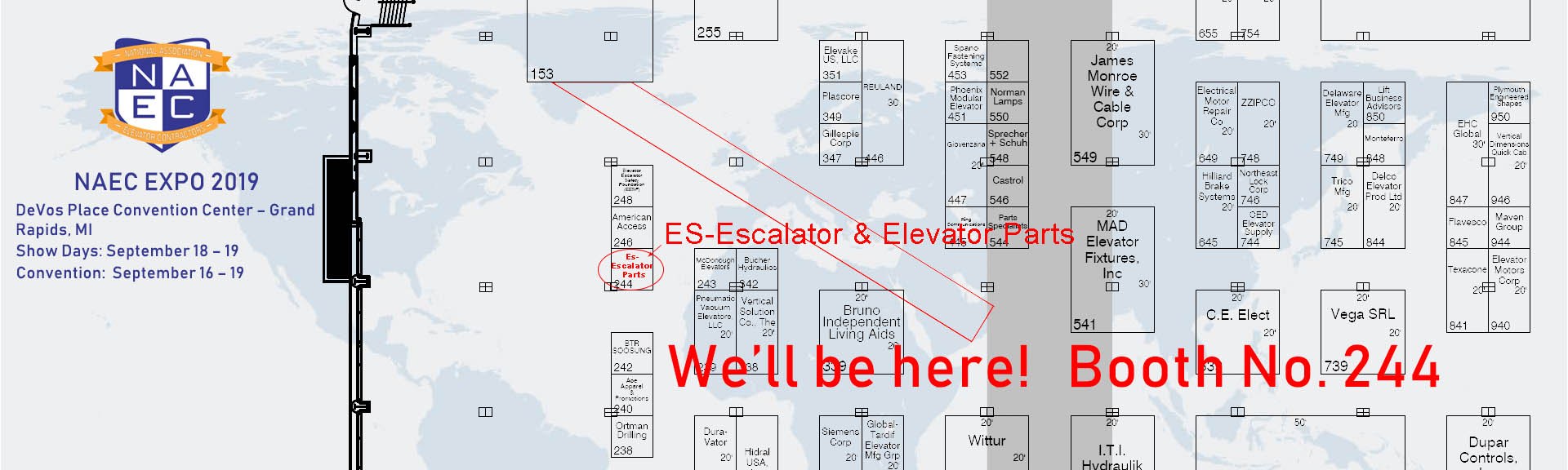 NAEC EXPO 2019-Es Escalator & Elevator Parts